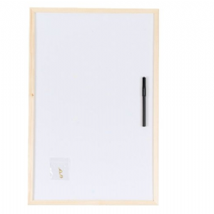 White Dry Wipe Board Pine Frame 80 x 60cm Large